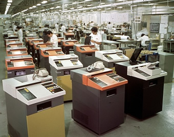 img:The production line of those days (Ricoh Atsugi Plant)