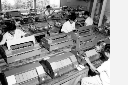 Production line of Ricopy 303 and 505 models (1957)