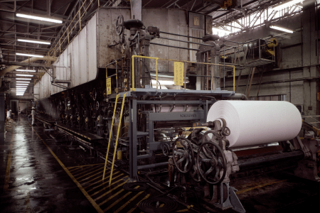 Paper machine in Numazu Plant, completed in March, 1960