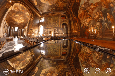 Fully spherical image captured by RICOH THETA
