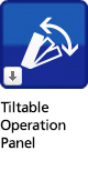 Tiltable operation panel