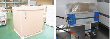 (LEFT:before,Right:After) All packaging materials, except for the plastic wraps, can be reused, including the belts, REI's plant in Tustin, California, the United States cushioning materials, and sleepers.