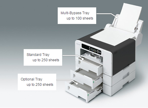 Large Paper Capacity for high productivity