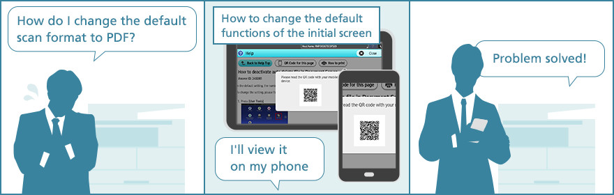 Usage Example 3: Access a solution on a smartphone
