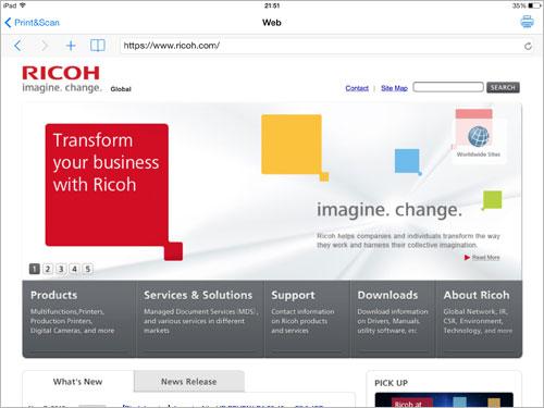RICOH Smart Device Print&Scan | Global | Ricoh