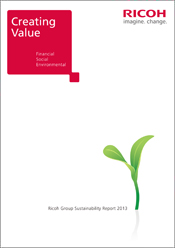 image:Ricoh Group Sustainability Report 2013