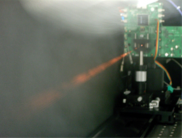 Figure 2: Light-emitting experiment of 40-channel VCSEL
