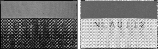 image:Imaging comparison between a normal camera (left) and a polarization camera (right)