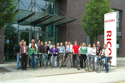 "image:Germany: Employees participating in the ""Cycle to Work"" campaign"
