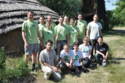 image:Hungary: Working with members of the local conservation society and university students to improve wooden paths in the bird sanctuary within the national park