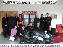 image:U.K.: Collecting unwanted clothes from employees to sell to recycling companies, and donating the proceeds of the sales to charity