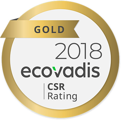 GOLD 2018 - EcoVadis CSR Rating